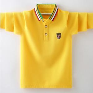 童装男童t恤长袖潮Polo衫2020新款春秋儿童宝宝帅气条纹翻领