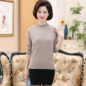 2020年秋季新款时尚女士中老年针织套头衫