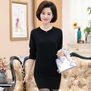 2020年秋季新款时尚女士针织中老年套头衫