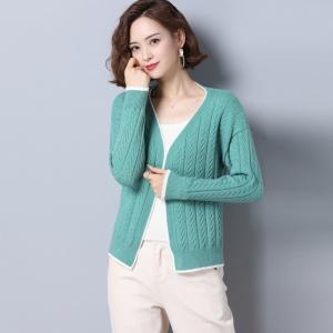 短款针织衫女开衫2020秋装新款宽松修身外搭披肩拼色原宿毛衣外套