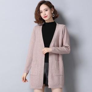 针织开衫女中长款宽松韩版披肩外搭2020年秋冬装新款洋气毛衣外套