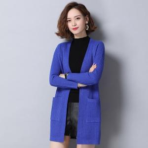 2020初冬秋新款羊毛衫开衫女外搭中长款韩版宽松大码百搭针织毛衣外套