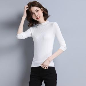 半高领打底衫女春秋冬季针织修身内搭短款羊毛衫女士毛衣长袖薄款