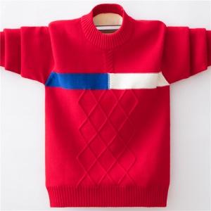 男童纯棉毛衣加绒加厚打底衫