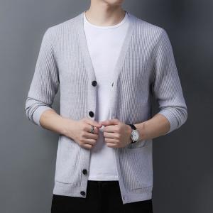 针织开衫男士春秋装新款外穿毛衣韩版潮流修身薄款宽松外套