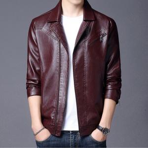 皮衣男秋季韩版修身皮夹克青年潮流帅气机车服短款男士外套