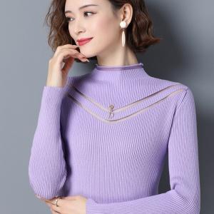 毛衣2020年新款女春秋韩版百搭简约时尚针织打底衫外穿上衣潮