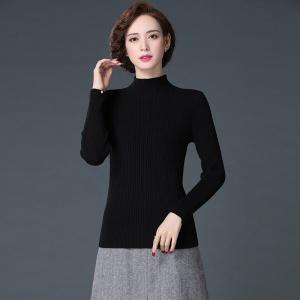 2020秋冬新款半高领套头毛衣女短款羊毛衫修身加厚打底针织衫保暖