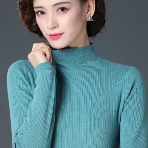 毛衣女2020新款时尚打底内搭洋气半高领很仙的黑色羊毛衫打底衫