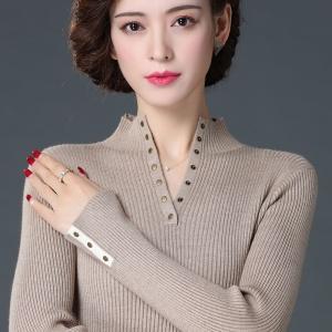 打底毛衣女半高领修身洋气羊绒衫2020新款时尚内搭秋冬针织羊毛衫
