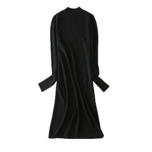 2020新款秋季女士时尚针织衫连衣裙灯笼袖