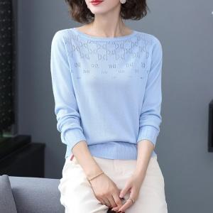 2020新款秋冬季纯色圆领女士羊毛衫