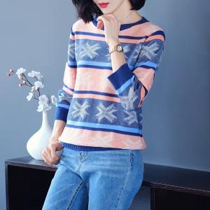 2020新款秋冬季条纹女士羊毛衫