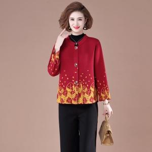2020新款秋季女士时尚妈妈装针织开衫
