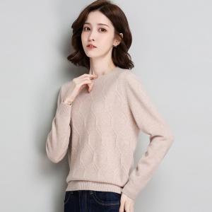 纯羊毛衫女短款秋冬季新款圆领宽松简约针织打底上衣长袖内搭毛衣