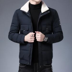 羽绒服男士加厚短款中青年男装翻毛领白鸭绒冬装外套保暖潮