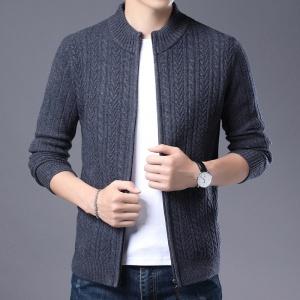 2020新款秋冬季纯色男士全羊毛羊毛衫
