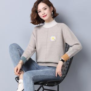 半高领女士毛衣宽松外穿秋冬装2020年新款针织打底衫秋季内搭上衣