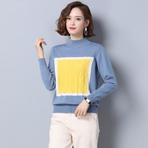 半高领女士毛衣套头短款宽松外穿秋冬2020年新款洋气中领打底衫潮