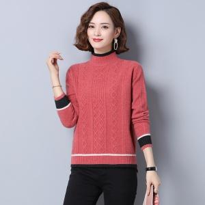 中半高领毛衣女2020新款秋冬羊毛短款加厚冬季内搭套头打底针织衫