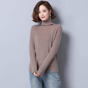 高领毛衣女2020新款时尚秋冬羊毛加厚宽松冬季内搭套头打底针织衫