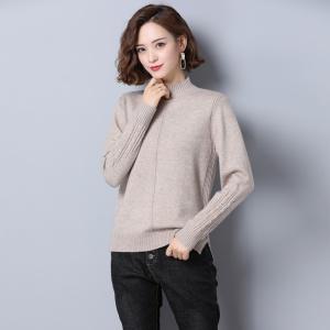 半高领毛衣女套头宽松秋季2020年新款洋气中领打底衫内搭秋冬外穿
