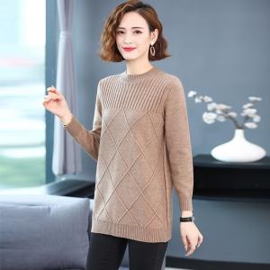 女士毛衣2020年新款秋冬大码胖mm遮肚显瘦针织打底衫内搭