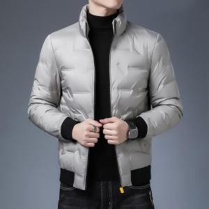 男士短款羽绒服冬装中年休闲加厚修身韩版立领保暖外套男