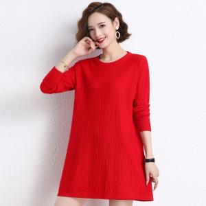 中长款毛衣女遮肚子打底衫秋冬新款韩版宽松显瘦羊毛衫女毛衣裙潮