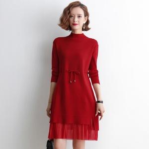 2020年秋季时尚女士中长款针织衫