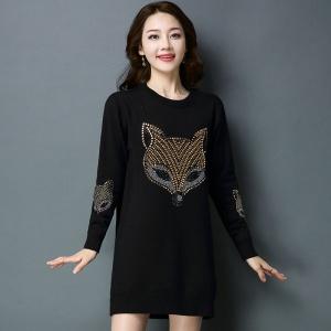 2020新款秋季女士时尚针织衫裙加绒