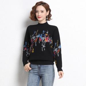 秋冬加绒加厚打底衫女内搭修身洋气妈妈装2020年新款爆一体绒毛衣
