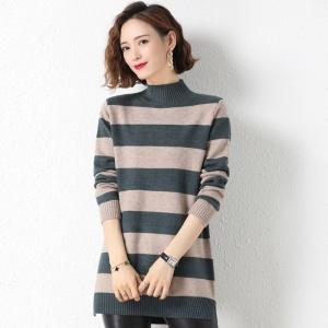 半高领毛衣女式套头中长款宽松外穿2020年新款秋冬韩版加厚打底衫