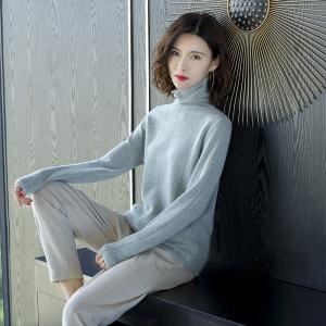 2020年冬季新款时尚打底超细羊毛纯色针织衫