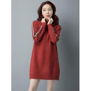 2020年冬季时尚女士中长款针织衫