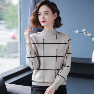2020新款秋冬季纯色半高领女士羊毛衫