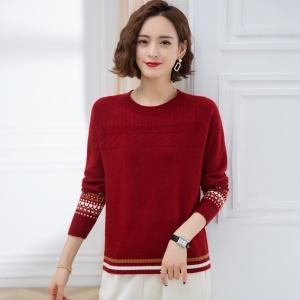 2021春秋新款韩版宽松毛衣女洋气短款长袖圆领针织打底衫女装套头