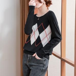 2021年新款女装套头宽松薄款毛衣针织打底衫