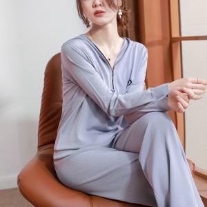 2021年春新款时尚针织卫衣休闲运动套装